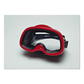 Diving mask for swimmers personalized announcements
