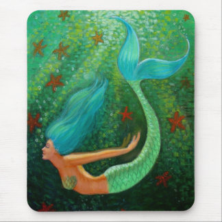 Diving Mermaid Mouse Mat