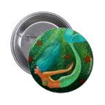 Diving Mermaid Pinback Buttons