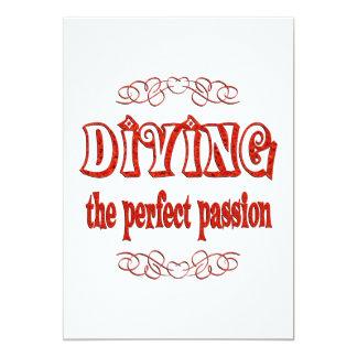 Diving Passion 13 Cm X 18 Cm Invitation Card
