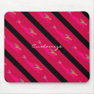 diving pink mermaids mouse mat