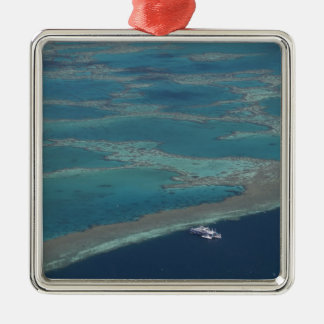 Diving platforms near reef, Great Barrier Christmas Ornament