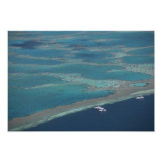Diving platforms near reef, Great Barrier Photo Print