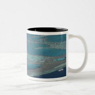 Diving platforms near reef, Great Barrier Two-Tone Mug