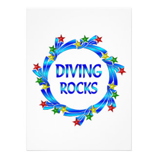 Diving Rocks Personalized Announcements