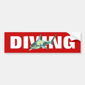 diving - sharks bumper sticker