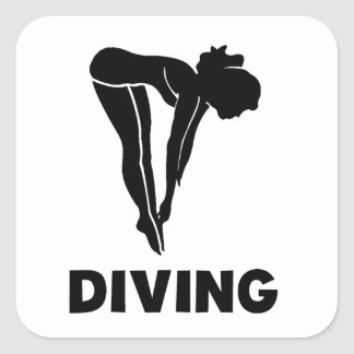 Diving Square Stickers