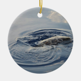 Diving Turtle Christmas Ornament