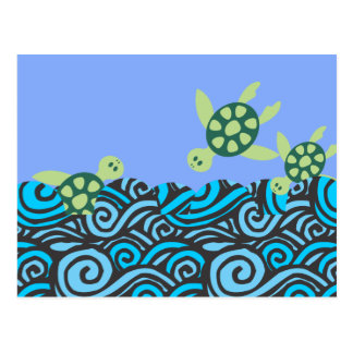 Diving Turtles Postcard