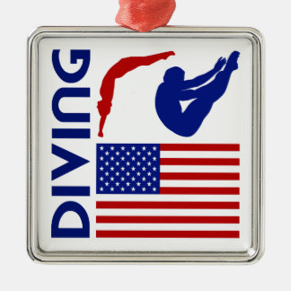 Diving United States Christmas Ornament