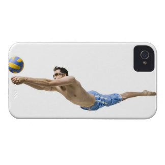 Diving volleyball player iPhone 4 case