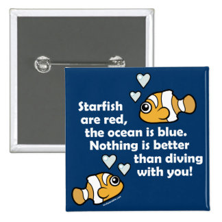 Diving With You 15 Cm Square Badge