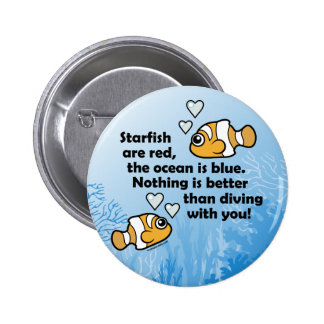 Diving With You 6 Cm Round Badge