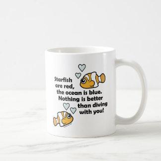 Diving With You Basic White Mug