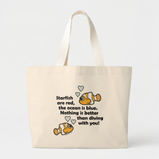 Diving With You Jumbo Tote Bag