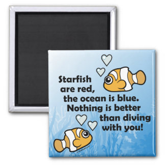 Diving With You Refrigerator Magnets