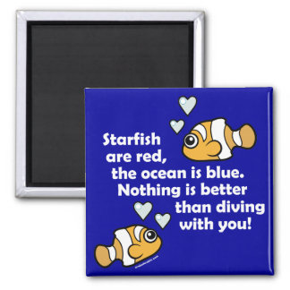 Diving With You Square Magnet