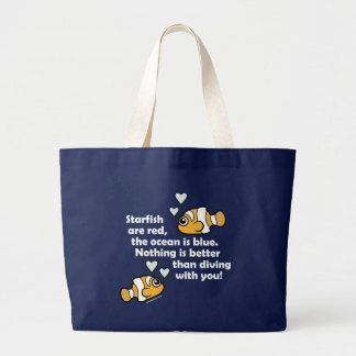 Diving With You Canvas Bags