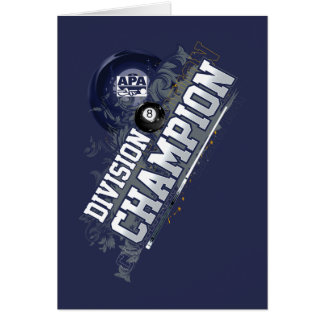 Division Champion 8-Ball Card