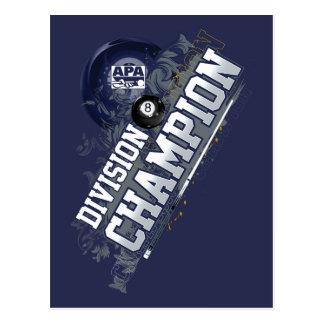 Division Champion 8-Ball Postcard