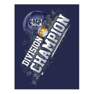 Division Champion 9-Ball Postcard