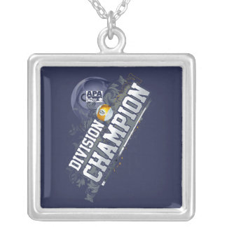 Division Champion 9-Ball Silver Plated Necklace