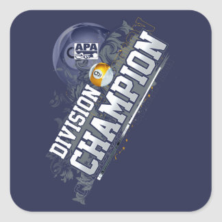 Division Champion 9-Ball Square Sticker