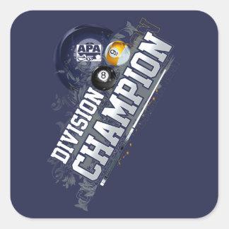 Division Champion Square Sticker