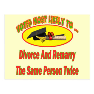 Divorce And Marry Postcard