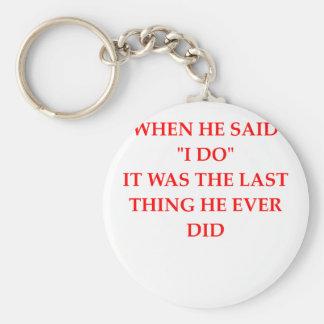 divorce basic round button key ring