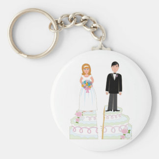 Divorce Cake Stock Basic Round Button Key Ring