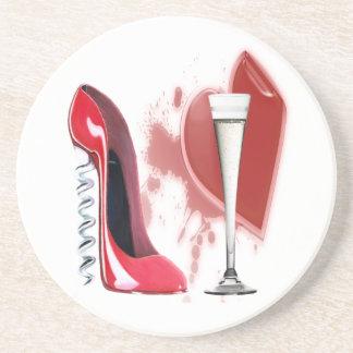 Divorce Celetration Corkscrew and Champagne Coaste Coaster