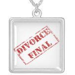 Divorce Final Humour  Necklace