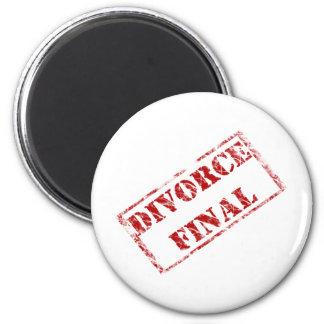 Divorce Final Stamp 6 Cm Round Magnet