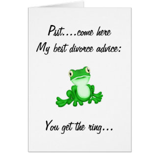 Divorce frog card