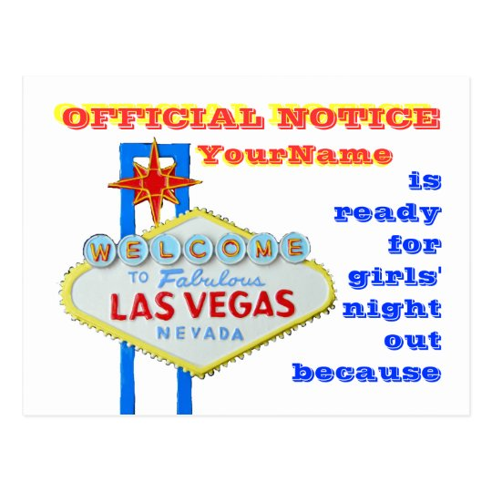 Divorce Las Vegas Style Announcement Postcard