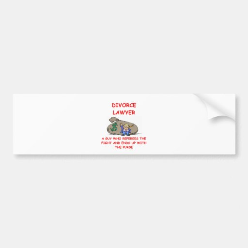 divorce lawyer bumper stickers