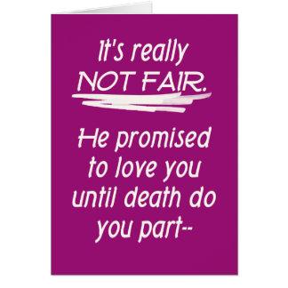 Divorce Not Fair Greeting Card