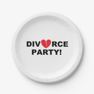 """""""Divorce Party"""" Paper Plates 7 Inch Paper Plate"""