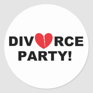 """Divorce Party"" Stickers"