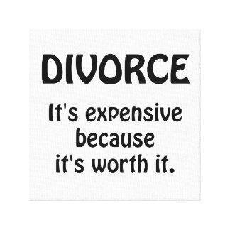 Divorce Worth It Gallery Wrap Canvas