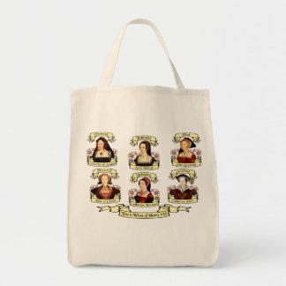 Divorced, Beheaded, DIed... Wives of Henry VIII Grocery Tote Bag