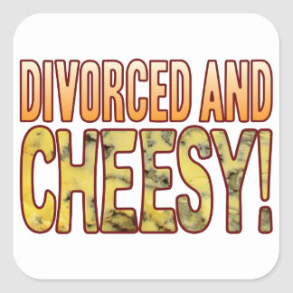 Divorced Blue Cheesy Square Sticker