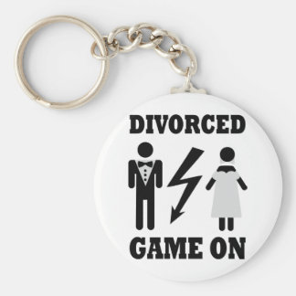 divorced game on icon basic round button key ring