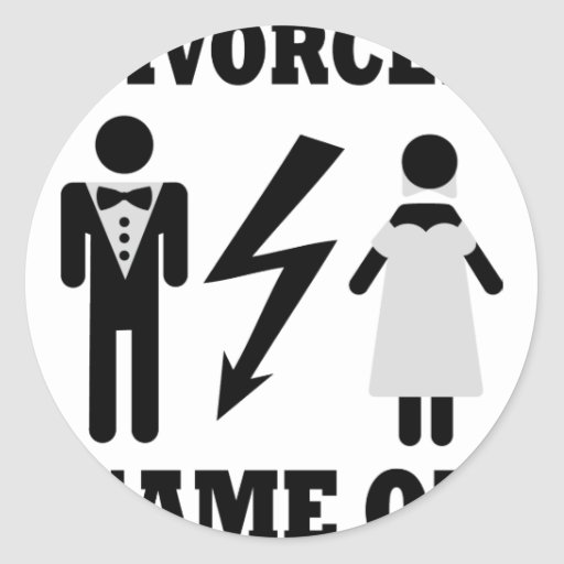 divorced game on icon round stickers