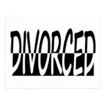 Divorced Half And Half, Black And White Post Card