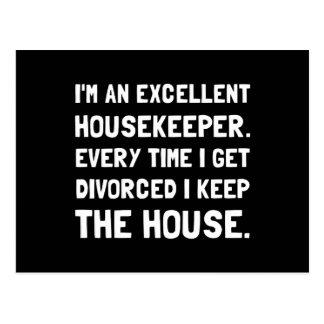 Divorced Housekeeper Postcard
