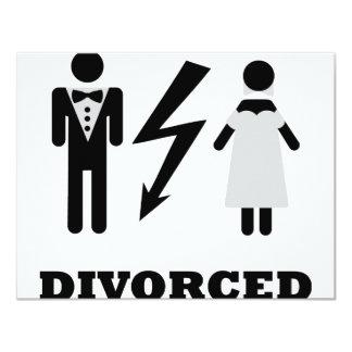 divorced icon 11 cm x 14 cm invitation card