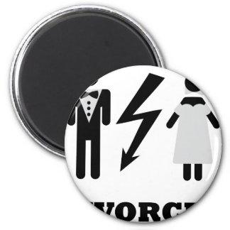 divorced icon 6 cm round magnet