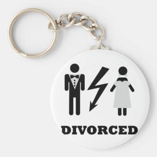 divorced icon basic round button key ring